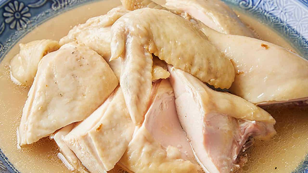 鶏の半身蒸し
