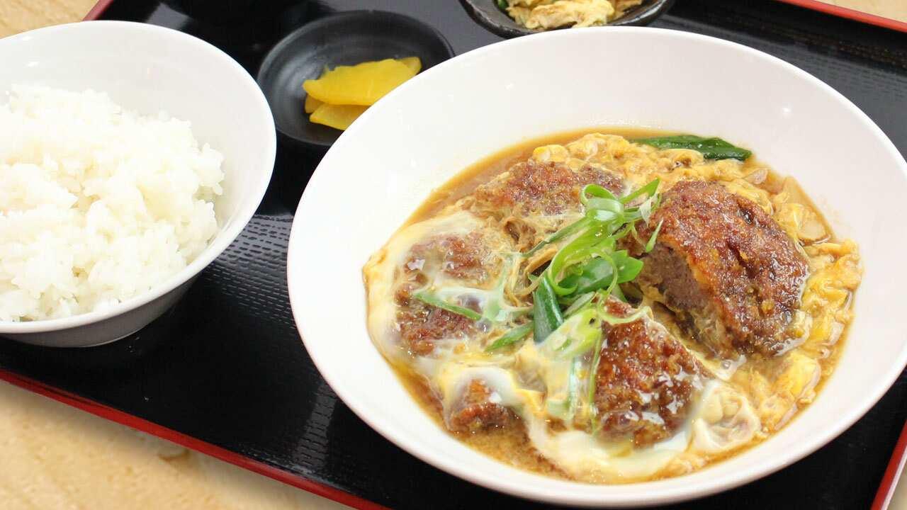 【天然広島産】猪肉で作るカツ玉定食 山椒風味