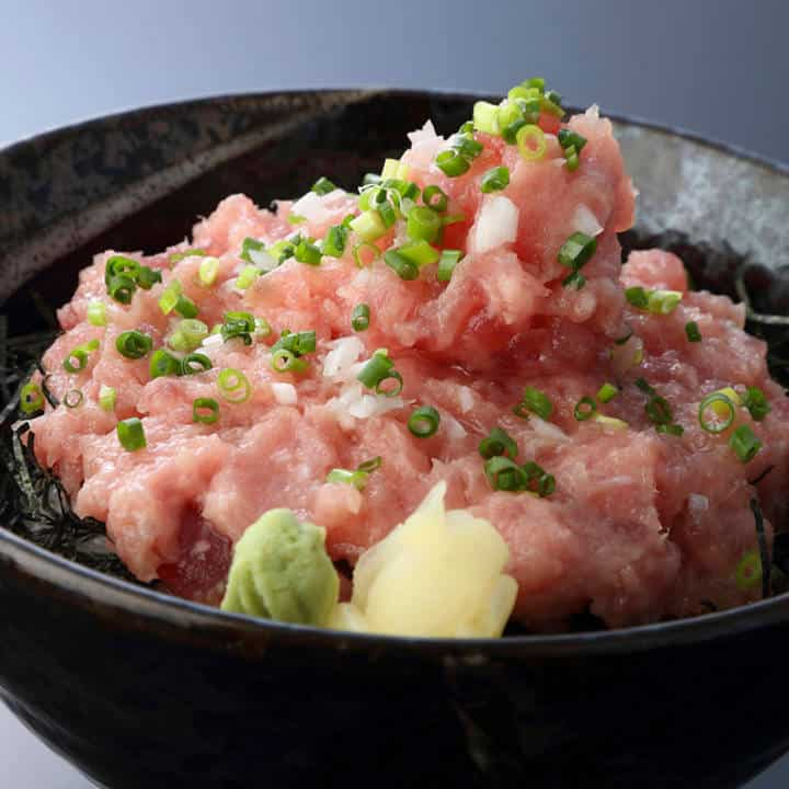 ねぎとろ丼(1人前)Raw Tuna with Green Onion Bowl(1serving)