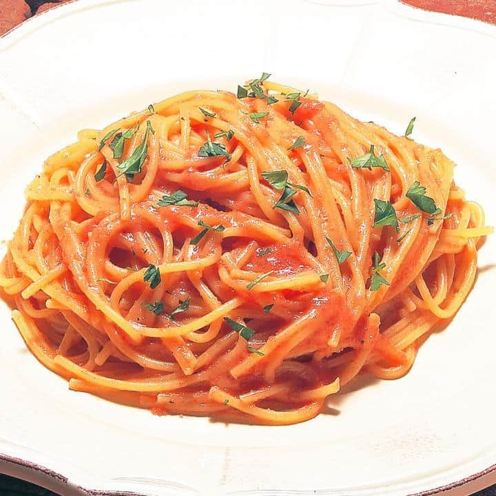 明太子のバター風味(Butter flavored Spaghetti with Seasoned cod roe)