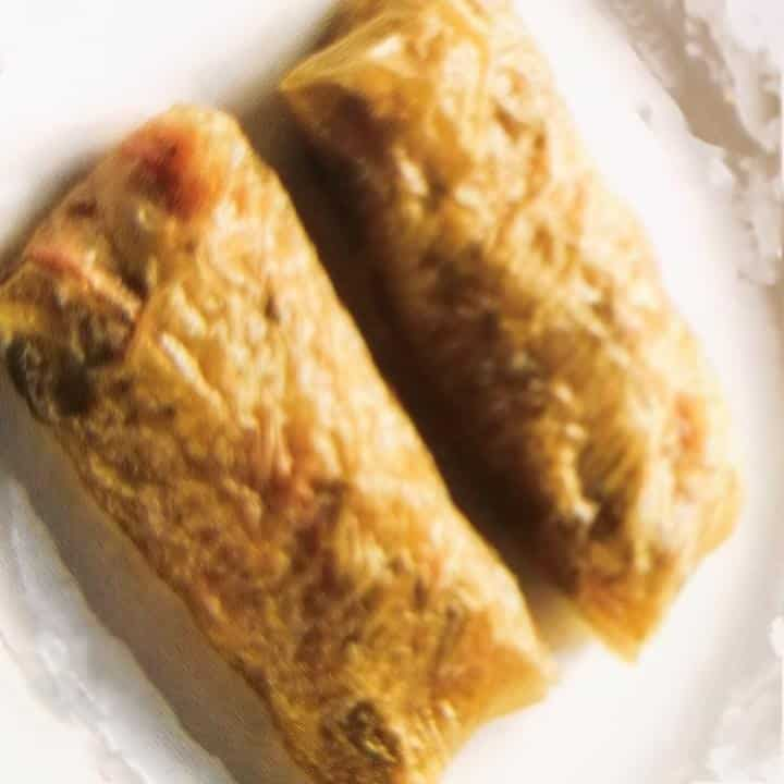 手作り 海鮮腐捲 (2個)1個35グラムSeafood volume rot dried bean curd crust