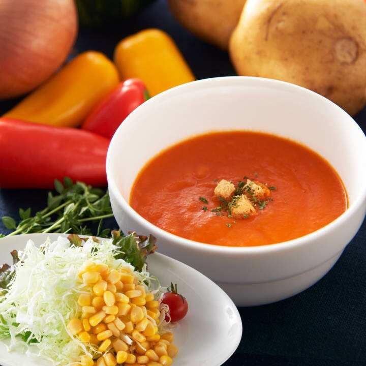 11年連続ミシュラン星獲得 唐渡シェフ監修 リュミエールの野菜を味わう濃厚スープ 浅草店